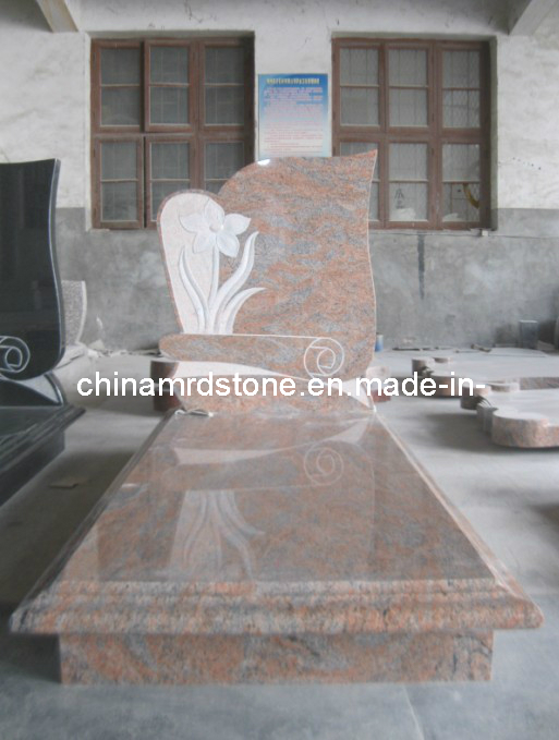 Multicolor indio Red Granite Headstones para Graves