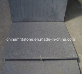 G654 Dark Grey Granite Flamed Paving Tile y Slab