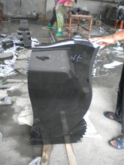 Hebei Black Monument Headstone para Market europeo