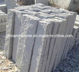 Jardín Fence de Padang Light Granite Stone con Rough Picked