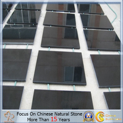 Shanxi Polished Black Granite Stone Thin Tile para Project