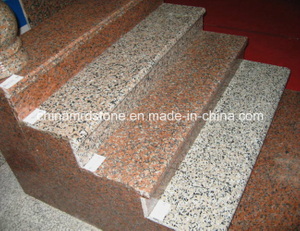 China popular Natural Red Granite Stone Staircase para Building