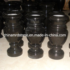 Absolute Polished Black Granite Stone Flower Vase para el cementerio