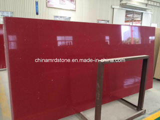 Color rojo Artificial Quartz para Decoration