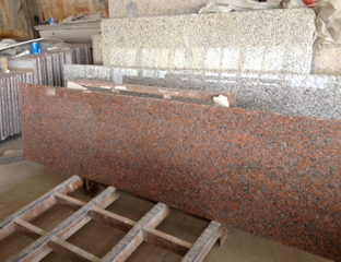 Maple Polished Red Granite Countertop Slab con Customize Size