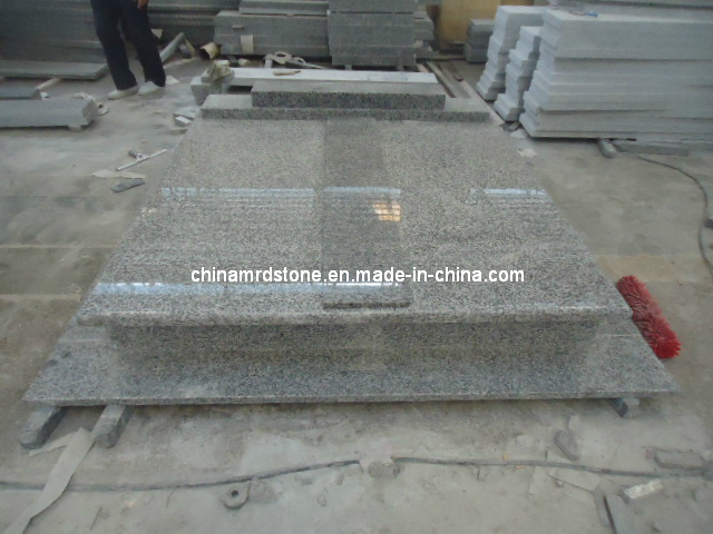 G623 gris Granite para Double Tombstone
