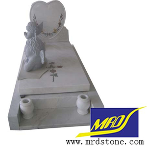 Marble blanco Monument Tombstone Headstone para Memorials