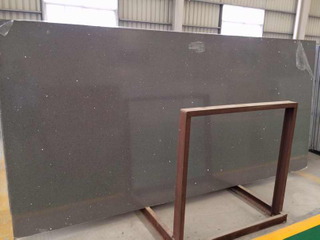 Buen Dark Grey Quartz Stone Big Slab con Fast Delivery Tiempo