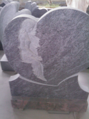 Granito Headstone para Heart con Orion Vizag Blue