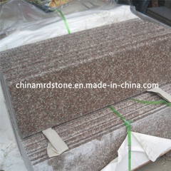 G687 Peach Red Granite Stair Tread con Polished o Flamed