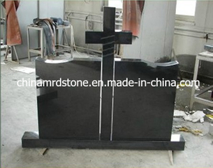 Shanxi Black Granite Traditional Cross Headstone para Rumania