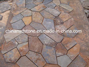 China Natural Rusty Slate Crazy Paving para el jardín o el patio