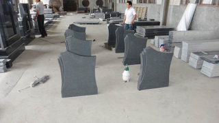 Granito Headstone para Memorial con Granite G654, China Impala