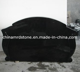 Alto Polished Shanxi Black Granite Funeral Monument para Rusia