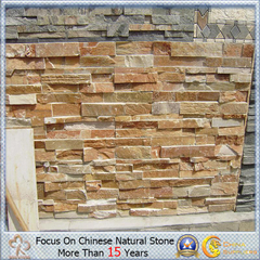 Natural barato Yellow Quartzite Tile para Wall Panels
