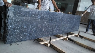 Blue material Pearl Small Slabs para Kitchen Floor