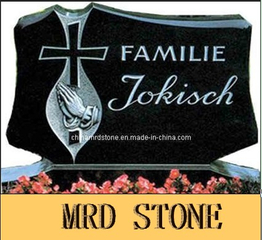 Shanxi Black Granite Headstone y Monument para Graves