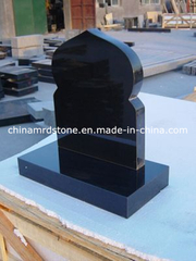 Todo el Polished Shanxi Black Granite Upright Headstone para Rusia