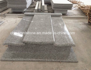 G623 Rosa Beta Granite Double Tombstone y Monument