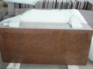 Maple Polished Red Granite Floor Tile para la Arabia Saudita Project